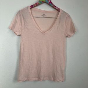 J. Crew light pink vintage cotton v neck XS / 1339